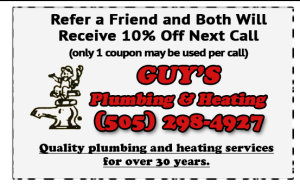 Refer a Friend Get 10% Off Albuquerque Plumbing Services
